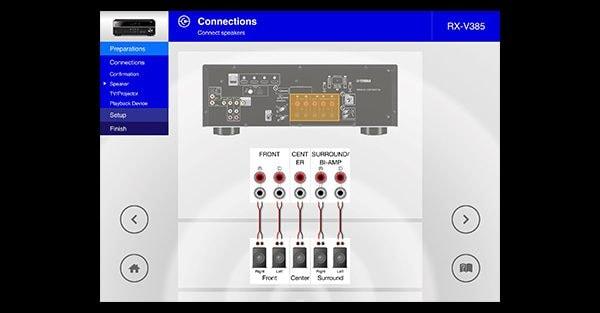 Aplikace Yamaha AVSetupGuide
